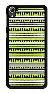 "Humor Gang Ethnic Aztec Tribal Pattern - Green Printed Designer Mobile Back Cover For ""HTC DESIRE 826"" (3D, Glossy, Premium Quality Snap On Case)"