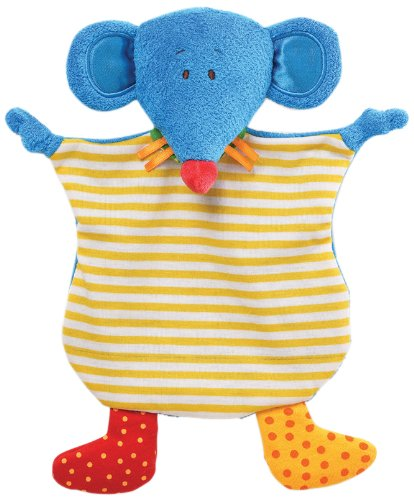 "Gund Baby Sock Hop Crinkle Buddy Blanket, Mouse, 11"" (Discontinued by Manufacturer)"