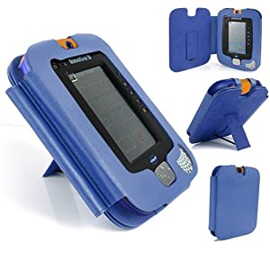 Gadget Giant ® VTech InnoTab 3 Blue Leather Wallet Case Cover Stand Protector