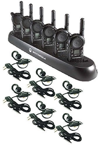 6-pack-of-motorola-cls1110-walkie-talkie-radios-with-headsets-6-bank-charger