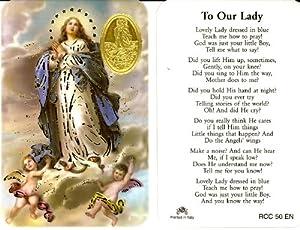 Immaculate Conception Prayer Card (RCC 50E)