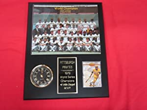 Pittsburgh Pirates 1979 World Champions Collectors Clock Plaque w 8x10 Photo and Card... by J & C Baseball Clubhouse