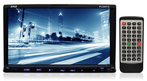 Pyle PLDN73I 7-Inch Double-DIN TFT Touchscreen DVD/VCD/CD/MP3/MP4/CD-R/USB/SD-MMC Card Slot/AM/FM/iPod Connector (Hummer H3 Head Unit compare prices)