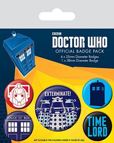 Doctor Who Paquet De Badges - Exterminate, 1 X 38m...