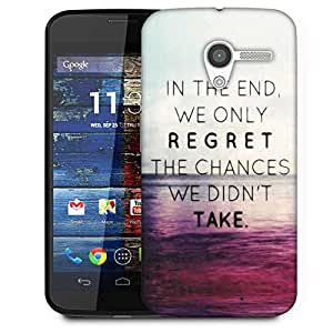 Snoogg Take Chances Designer Protective Phone Back Case Cover For Moto X / Motorola X