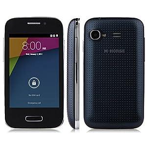 M-HORSE S51 SC8810 Android 4.4 Dual SIM Dual Cameras WIFI Smartphone Mobile Phone Cellphone (Black)
