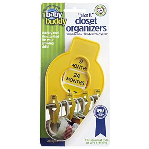 Baby Buddy 5 Pack Size-It Closet Organizers - 1