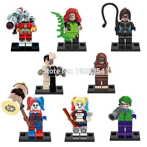 Superb-good-Super-Heroes-Minifigures-Harley-Quinn-Joker-8pcslot-Building-Blocks-Model-Brick-Toys-Legoelieds