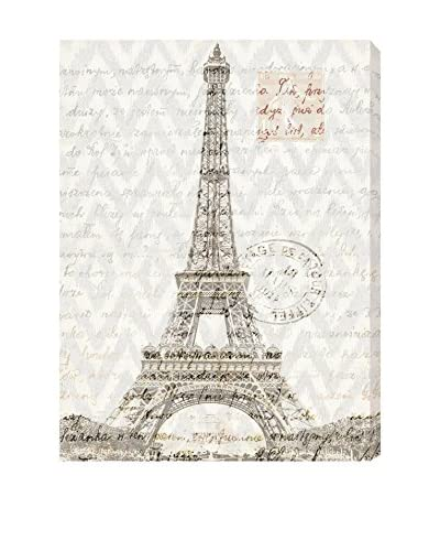 Oliver Gal Eiffel Thoughts Canvas Art