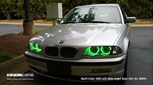 Green Bmw M3 E46 E36 E38 E39 Multi-Color Changeable Led Halo-Angel Eye Rings Kit