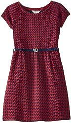 kc parker Big Girls' Knit Jacquard Dress