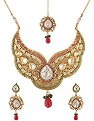 Mehek Design Gold Metal Strand Jewellery Set For Women (VD140)