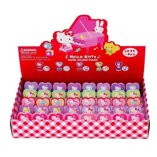 Japanese Sanrio Hello Kitty Stamp W/clip Piano Toys