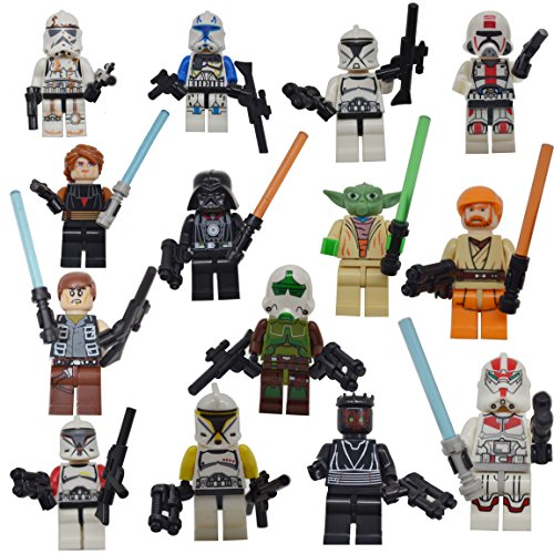 DESO® [3 days to delivered] 14 Pcs Lego Compatible super hero Figures STAR WARS FIGURES 14 Pcs – Characters with ORIGINAL BOX