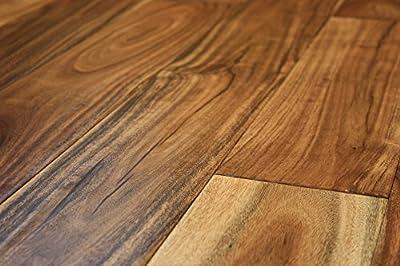 "Elk Mountain Acacia Natural Small Leaf 1/2"" x 4-3/4"" Hand Scraped Engineered Click Lock Hardwood Flooring AH262 SAMPLE"