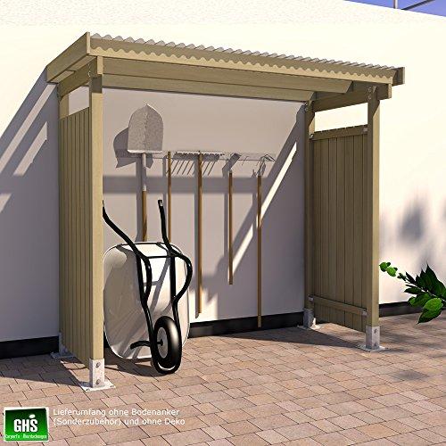unterstand 2 50x1 25 mit 2 seitger bekleidung. Black Bedroom Furniture Sets. Home Design Ideas