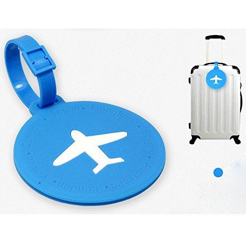 EQLEF® 2 pezzi valigia di corsa sacchetto dei bagagli tag, etichette bagagli Airlines rotonde