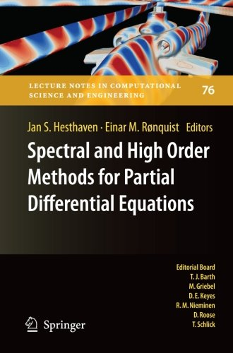 Spectral and High Order Methods for Partial Differential Equations: Selected papers from the ICOSAHOM '09 conference, Ju