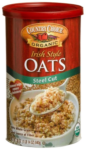 Country Choice Organic Irish Steel Cut Oats, 30-Ounce Canisters (Pack of 6)