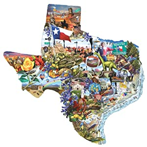 SunsOut Welcome to Texas Shaped Jigsaw Puzzle - 1000 Pieces