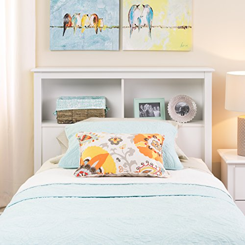 Prepac WSH-4543 Monterey Twin Storage Headboard (White)