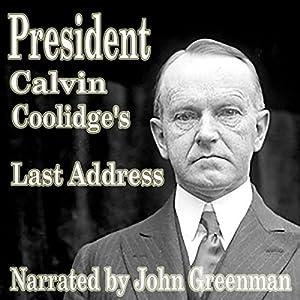 President Calvin Coolidge's Last Address Audiobook