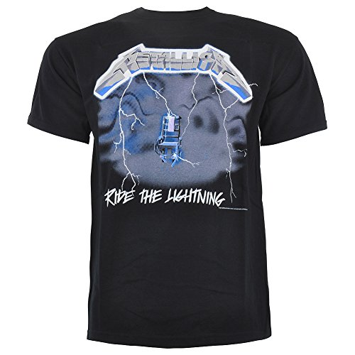 T Shirt Metallica Stampa Ride The Lightning (Nero) - X-Large