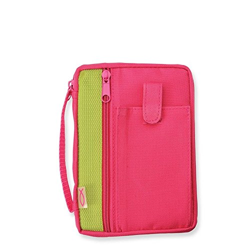 Compact Fuchsia Bible Cover w/Front Storage Pocket by Gregg Gift (Gregg Gift Company compare prices)