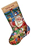51orQqCfzLL. SL160  Cross Stitch Christmas Stockings Santas Toys Dimensions