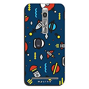 Mozine Space Pattern Printed Mobile Back Cover For Asus Zenphone 2