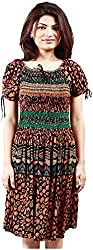 R&V Women's A-Line Dress (Multi-Coloured)