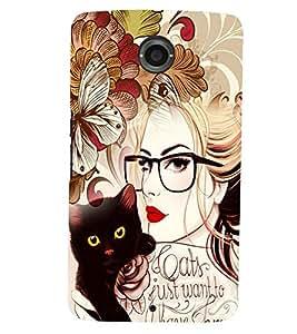 printtech Fantasy Girl Back Case Cover for Motorola Google Nexus 6