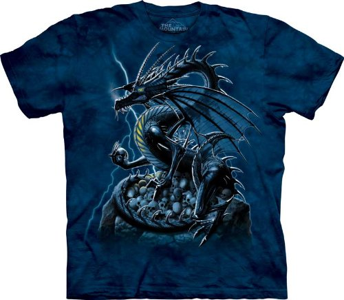 The Mountain Skull Dragon Lightning Fantasy Short Sleeve T-Shirt Child L front-361904
