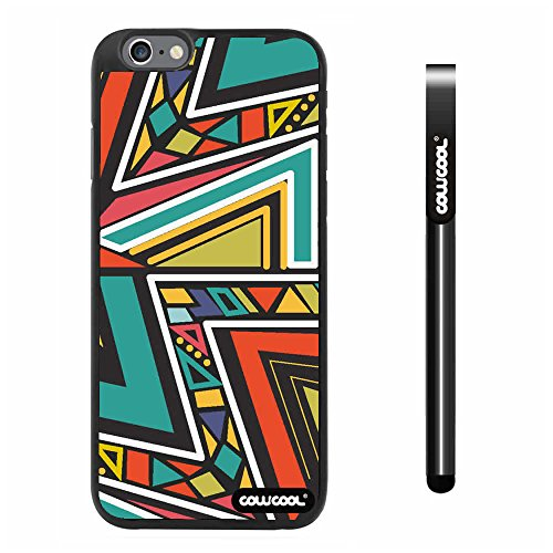 Cowcool® Apple Iphone 6 Plus 5.5 Inch Case Hard Pc Colorful Bohemian Triangle Totem Black Shell Single Layer Protective Case (#5)