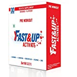 Fast&Up Activate - L Arginine L Carnitine Pre Workout Sports Drink - Pack Of 3 Tubes