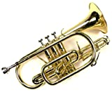 Monel Pistons Bb Cornet w/ Case and Mouthpiece- Gold Lacquer Finish with Slide Trigger Design
