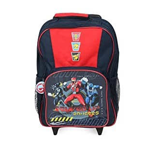 40e Boys Power Rangers Wheeled Suitcase Travel Bag by My1stwish