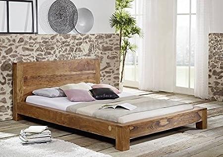 MASSELLO ACACIA LEGNO MIELE mobili letto 180x200 legno massello massivholzmöbel mobili in legno massello SCIAMANO #204