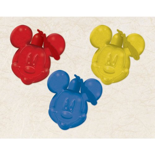 "Amscan Mousekemazing Disney Mickey Mouse Bubble Necklace (1 Piece), Red/Yellow/Blue, 2 x 2"" - 1"