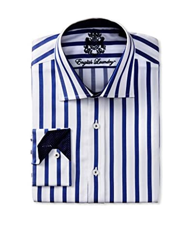 English Laundry Men's Bengal Dress Shirt