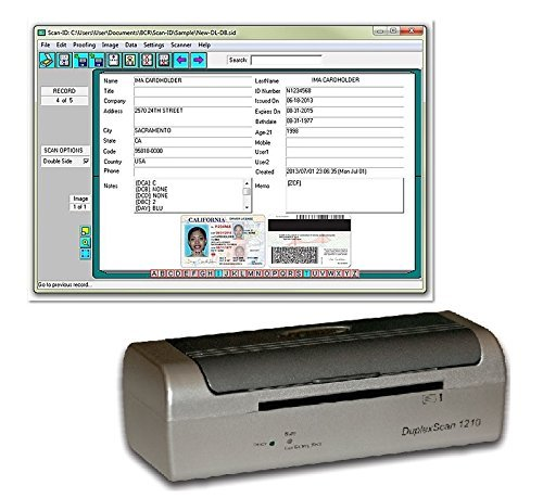 Duplex Medical Insurance Card and ID Scanner (w/ Scan-ID LITE) (Insurance Card Scanner compare prices)