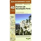 Puertos beceite/ els ports - mapa excursionista