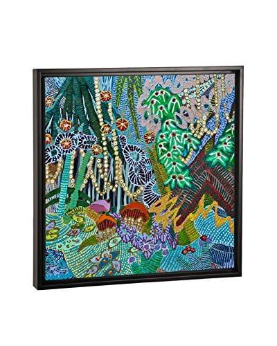 Lia Porto In A Garden Canvas Print