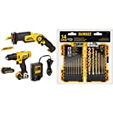 DEWALT DCK212S2 12-Volt MAX Drill Driver and Reciprocating Saw Kit with DEWALT DW1354 14-Piece Titanium Drill Bit Set
