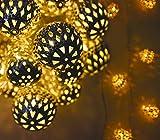 Lawn & Patio - Solalux solarbetriebene Lichterkette mit 12 marokkanischen LEDs in Kugelform f�r den Garten