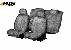 JMJW & SONS - Sweat Control Grey Towel Car Seat Covers for Toyota Innova (7 Seater) (Type1)