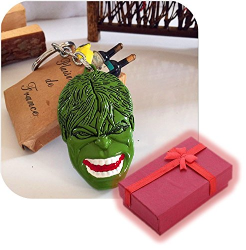 Nido del Bimbo 914 - [HULK FACCIA VERDE] Portachiavi Marvel The Avengers Dc Comics Justice League of America Star Wars Film Videogiochi Cartoni Animati Supereroi Fumetti Manga Villians Cattivi Buoni ...