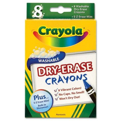 8CT Dry Erase Crayons (Pack of 2) - 1