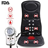 VIKTOR JURGEN Car Back Massager with Heat – 6-Motor Vibration Massage Seat Cushion – Pain Relief for Full Back, Shoulder and Thigh Pains