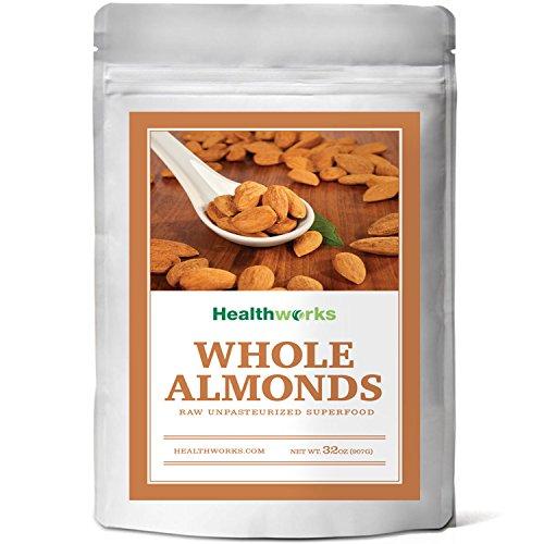 Healthworks Almonds Whole Raw Unpasteurized (Sproutable) Pesticide-Free, 2lb (Almonds Steam compare prices)